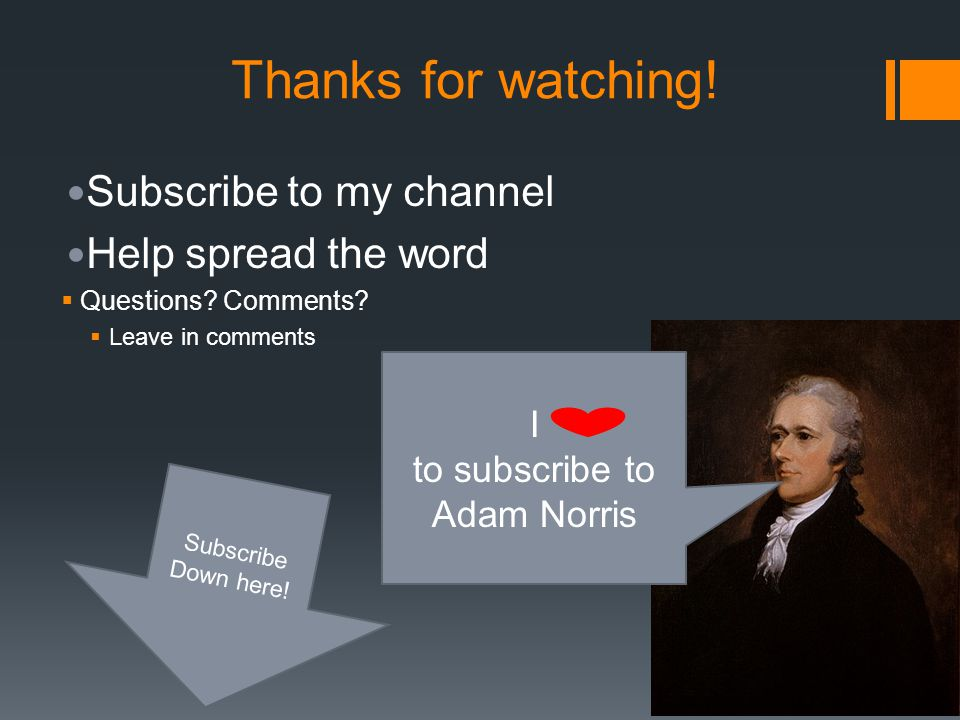 to subscribe to Adam Norris