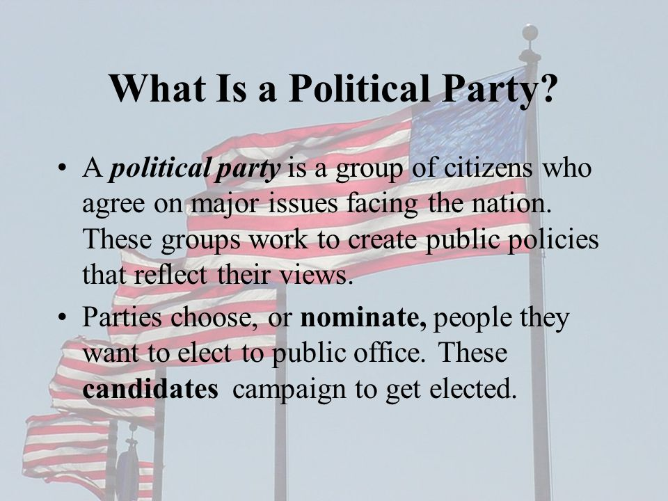 What Is a Political Party