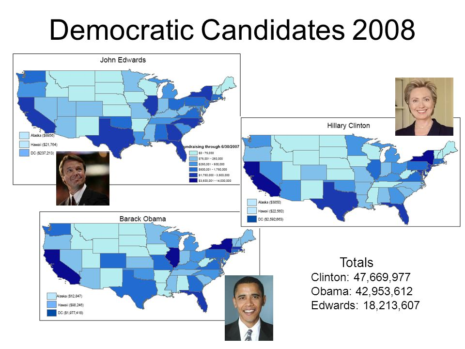 Democratic Candidates 2008