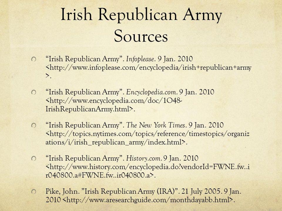Irish Republican Army Sources