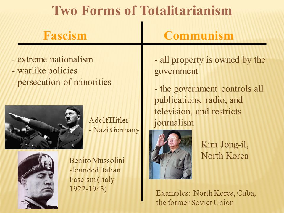 Two Forms of Totalitarianism