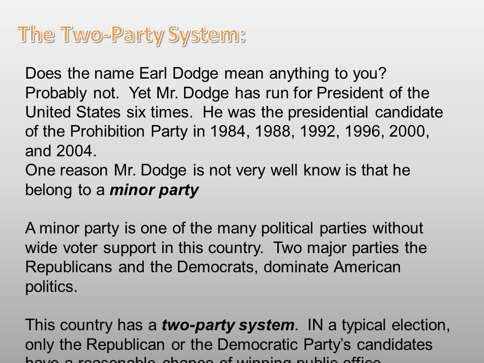 The Two-Party System: