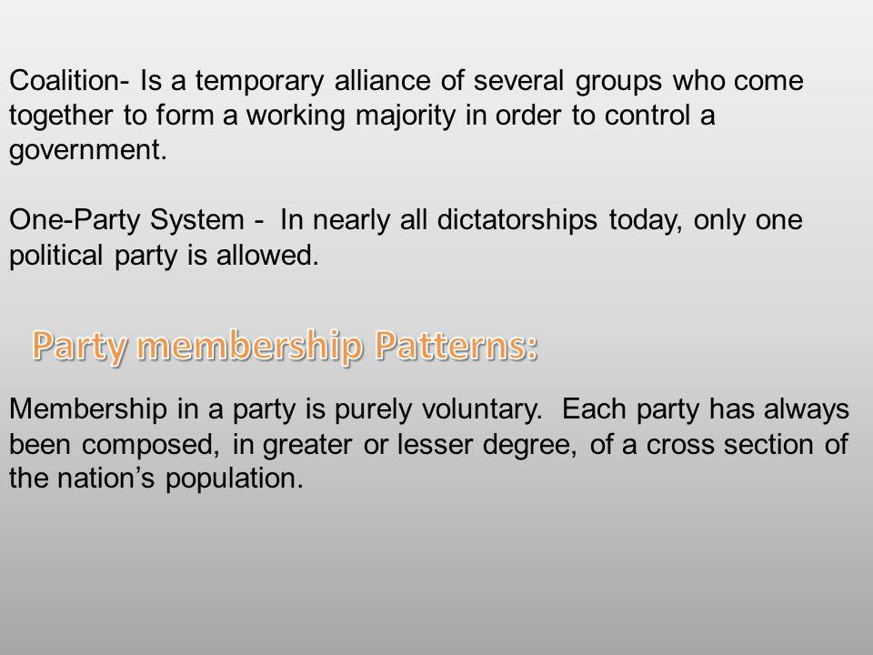 Party membership Patterns: