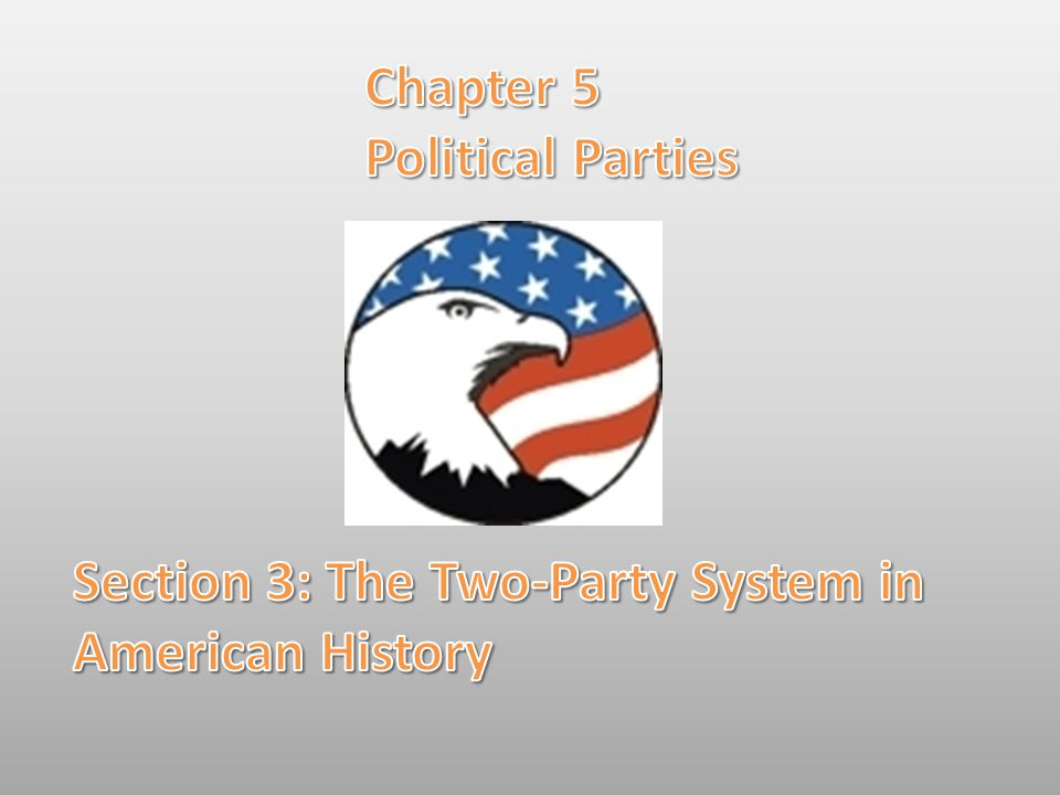 Chapter 5 Political Parties Section 3: The Two-Party System in American History
