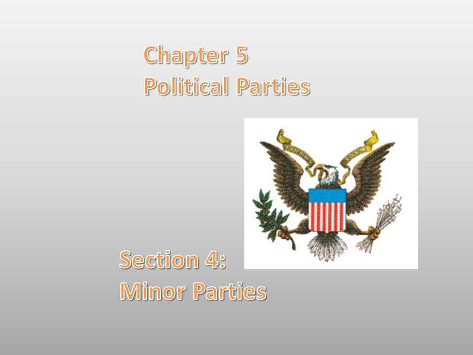 Chapter 5 Political Parties Section 4: Minor Parties