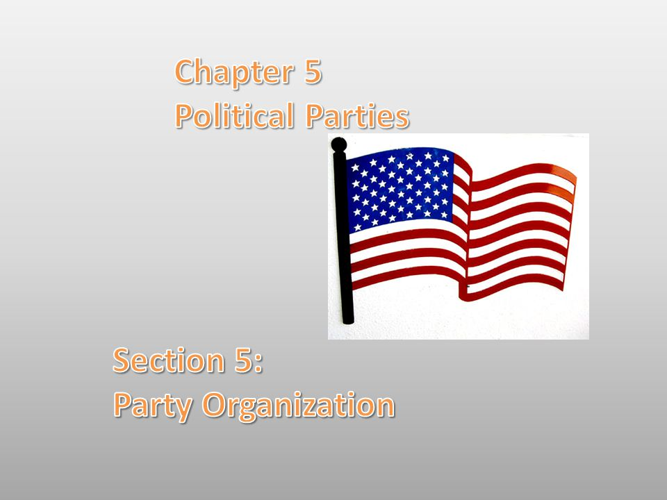 Chapter 5 Political Parties Section 5: Party Organization