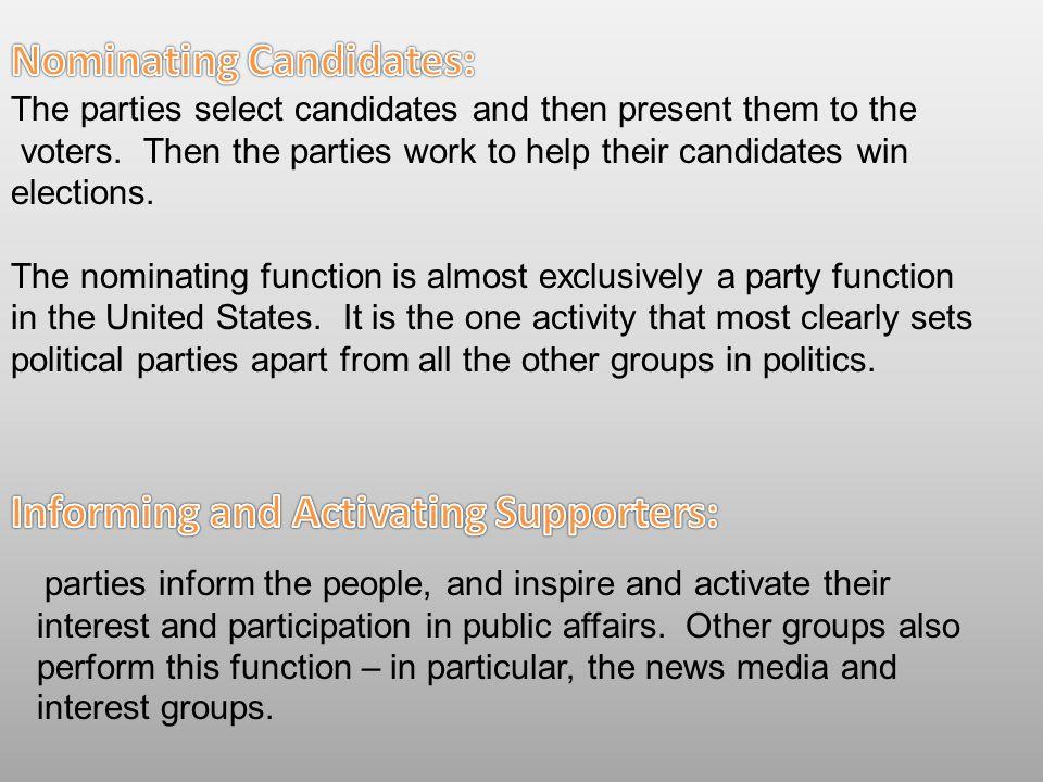 Nominating Candidates: