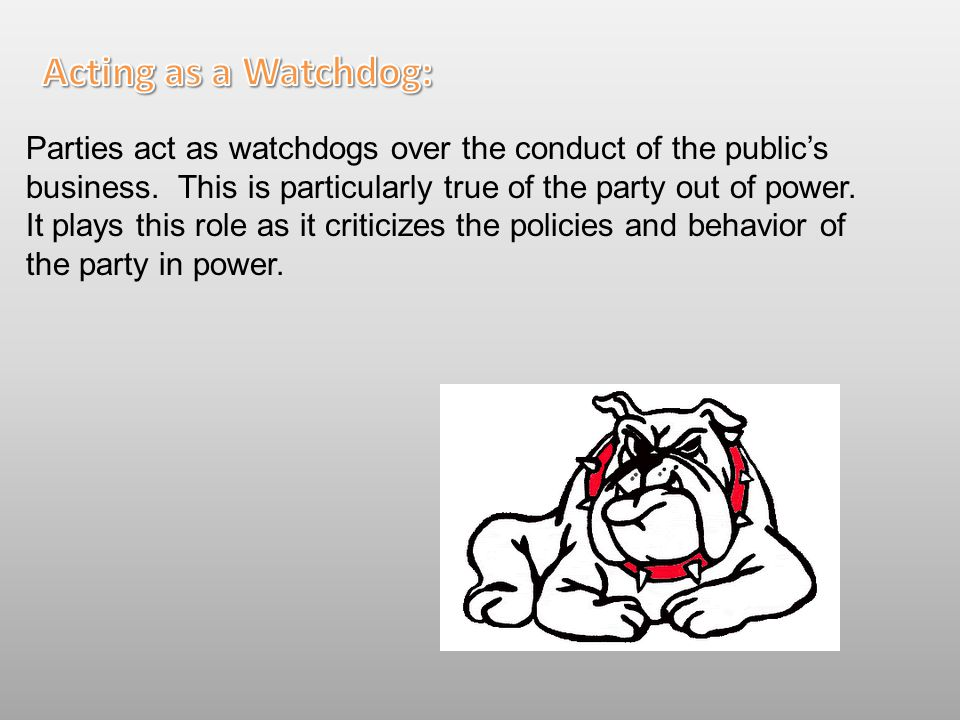 Acting as a Watchdog: