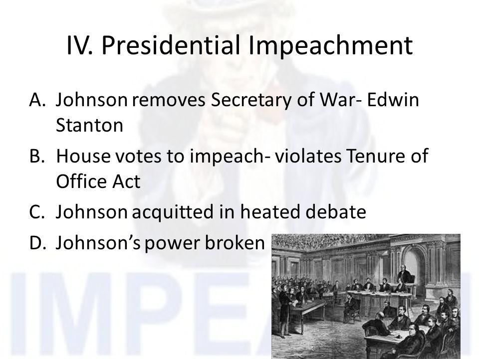 IV. Presidential Impeachment