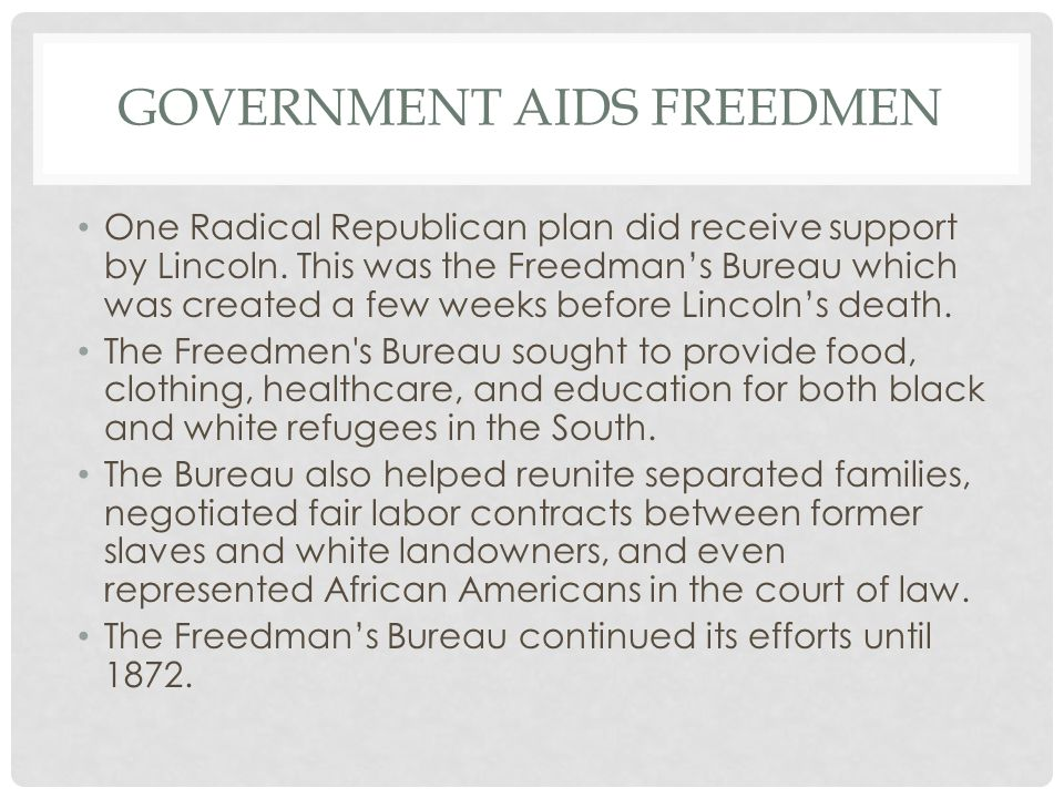 Government Aids Freedmen