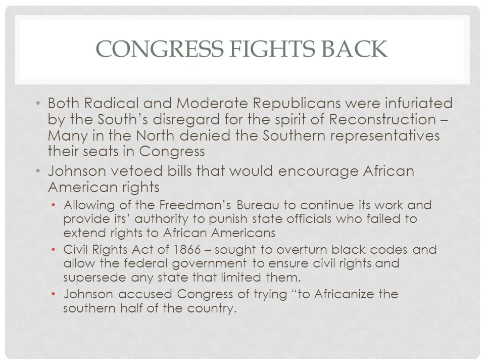 Congress fights back