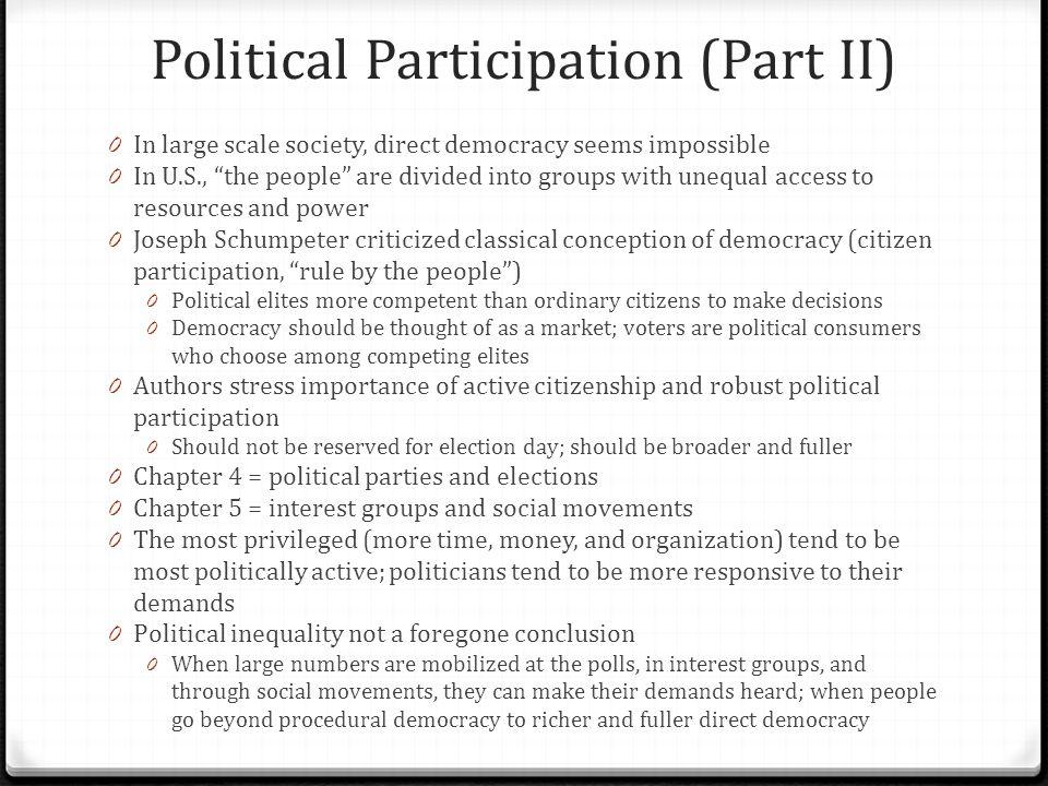 Political Participation (Part II)
