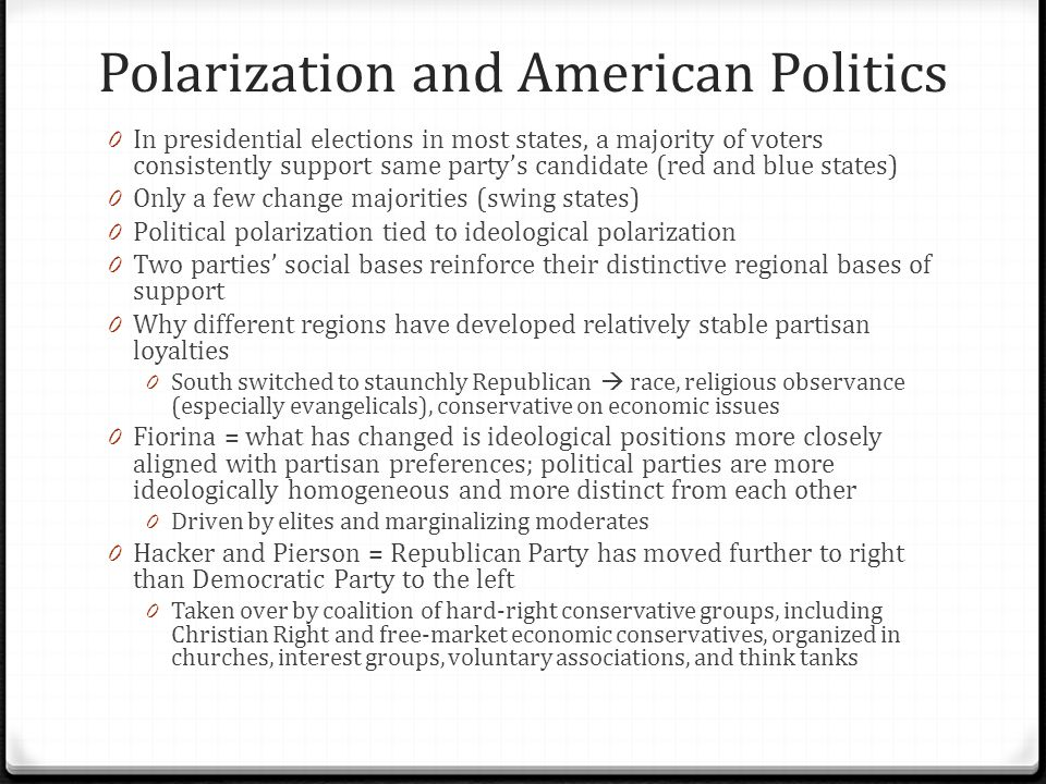 Polarization and American Politics