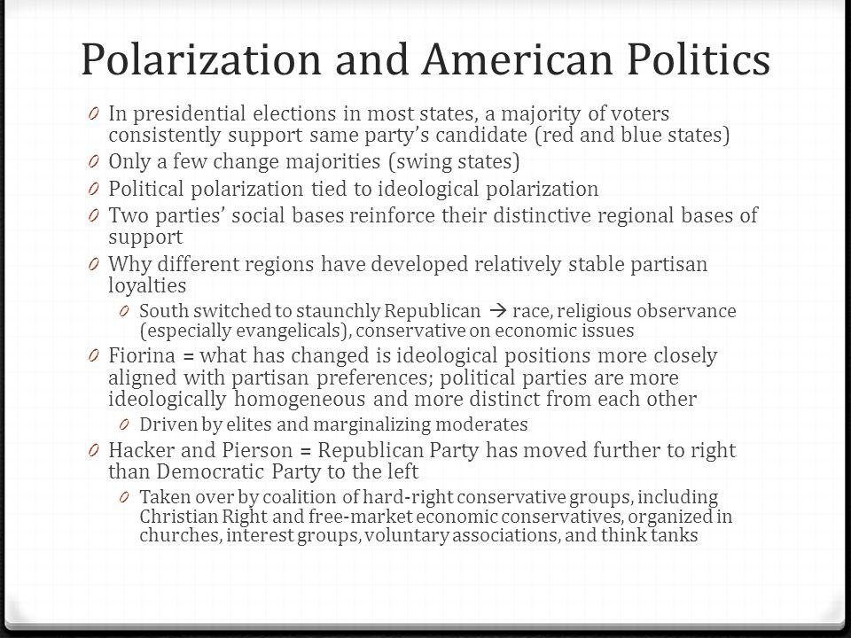 Polarization and American Politics