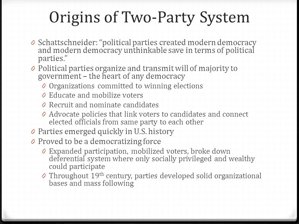 Origins of Two-Party System