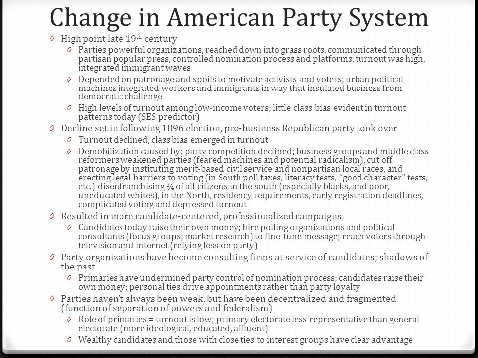 Change in American Party System