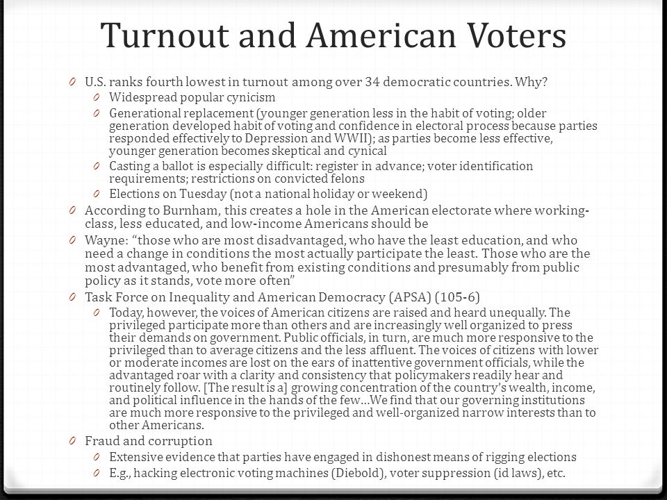 Turnout and American Voters