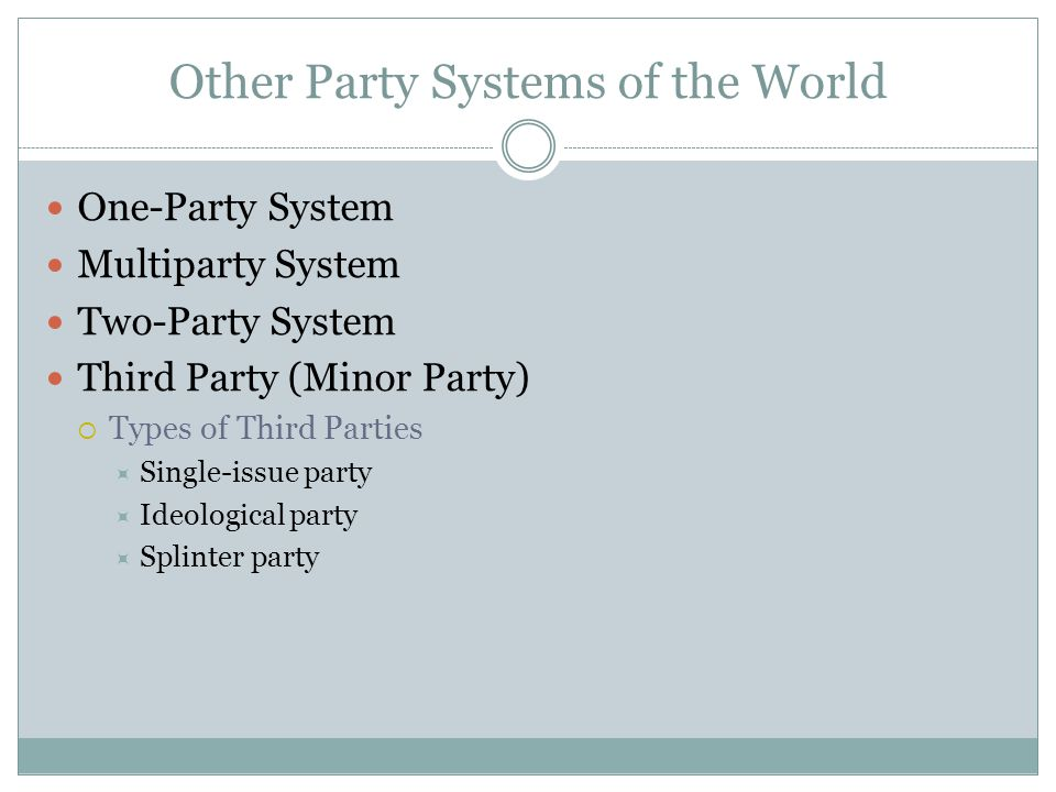Other Party Systems of the World