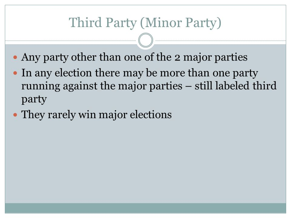 Third Party (Minor Party)