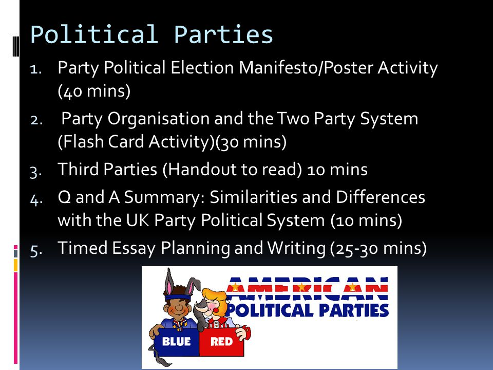 Political party essay writing