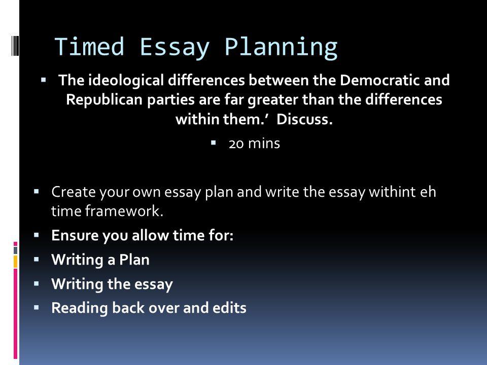 Timed Essay Planning