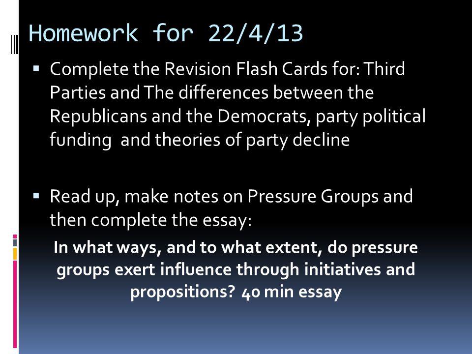Homework for 22/4/13