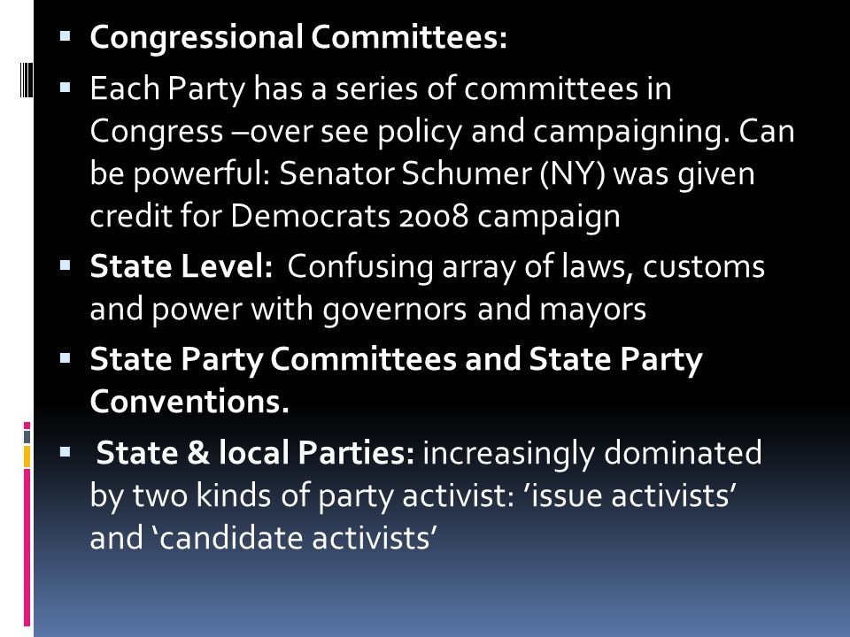 Congressional Committees:
