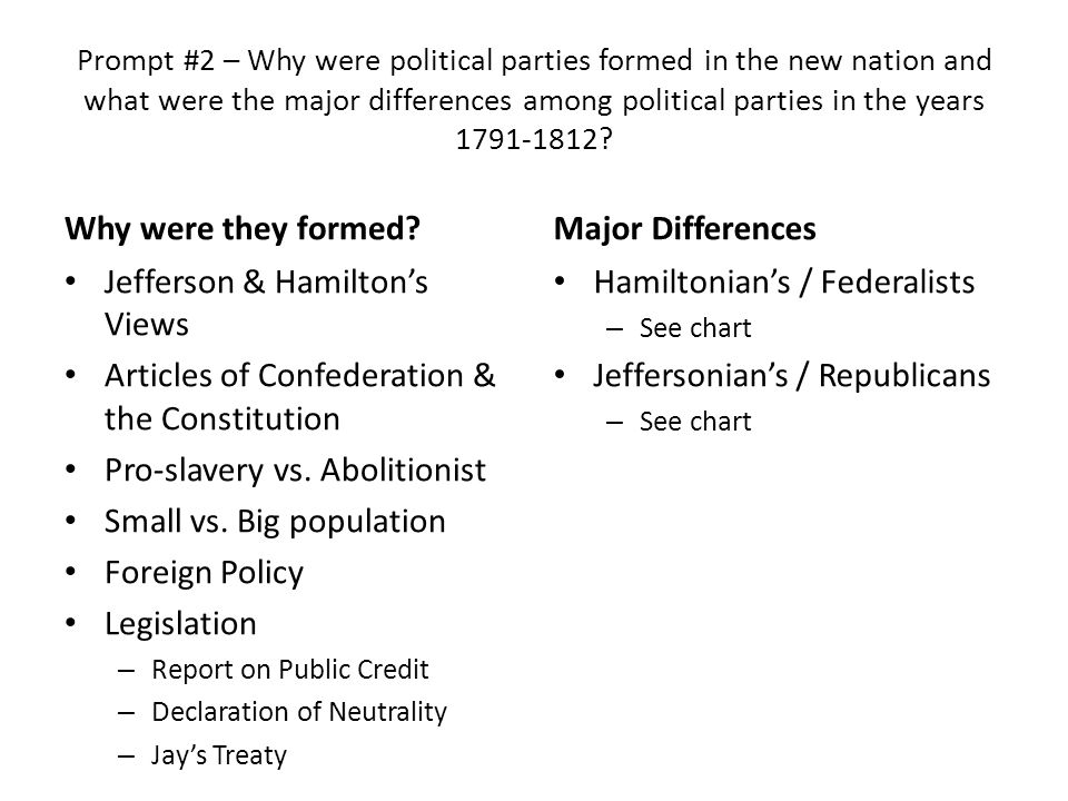 unit response essay topics ppt  4 jefferson hamilton s views