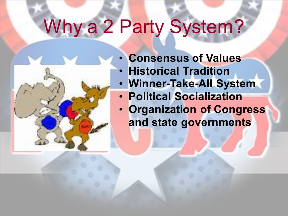 Why a 2 Party System Consensus of Values Historical Tradition