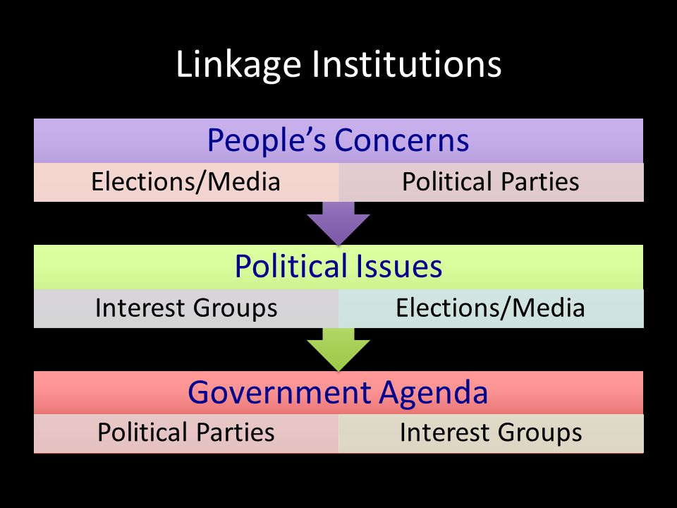 Linkage Institutions Government Agenda People's Concerns