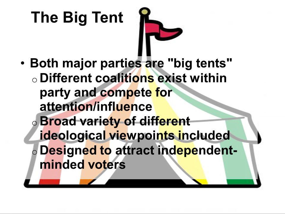 The Big Tent Both major parties are big tents