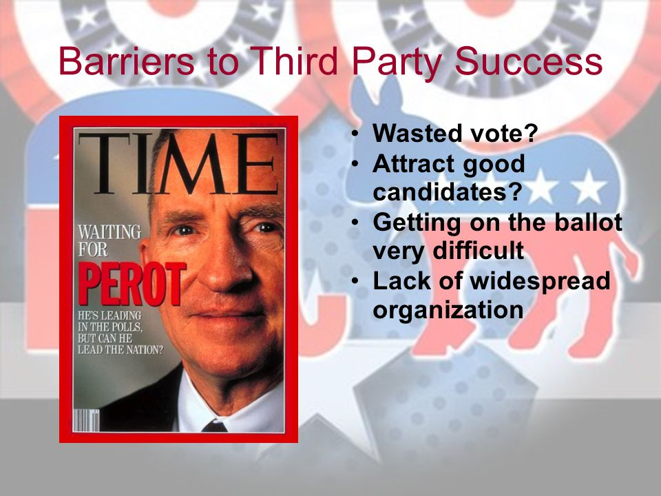 Barriers to Third Party Success