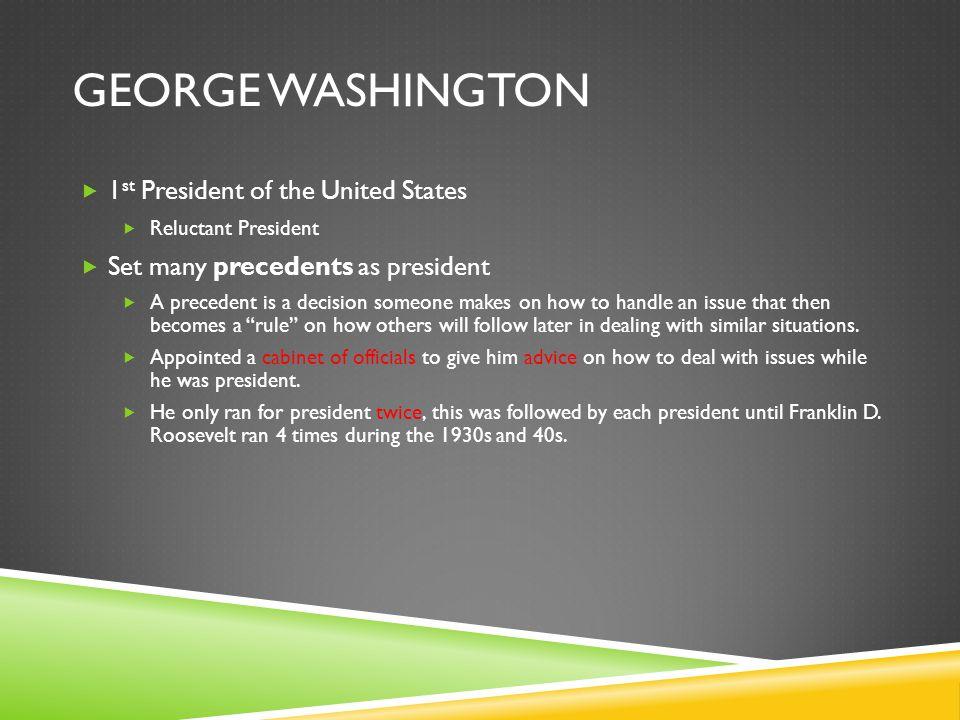 George Washington 1st President of the United States