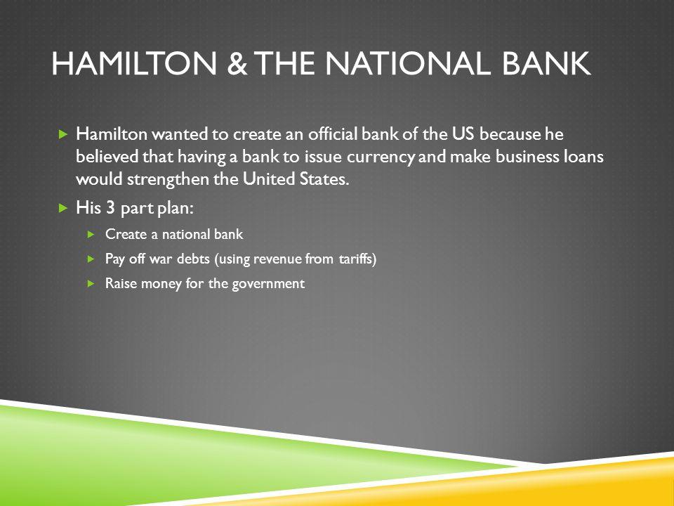 Hamilton & The National Bank