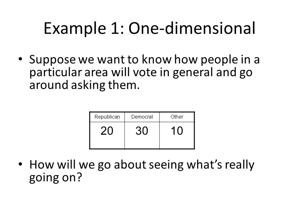 Example 1: One-dimensional