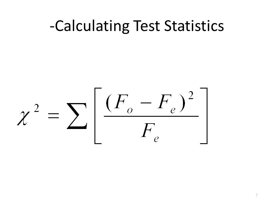 -Calculating Test Statistics