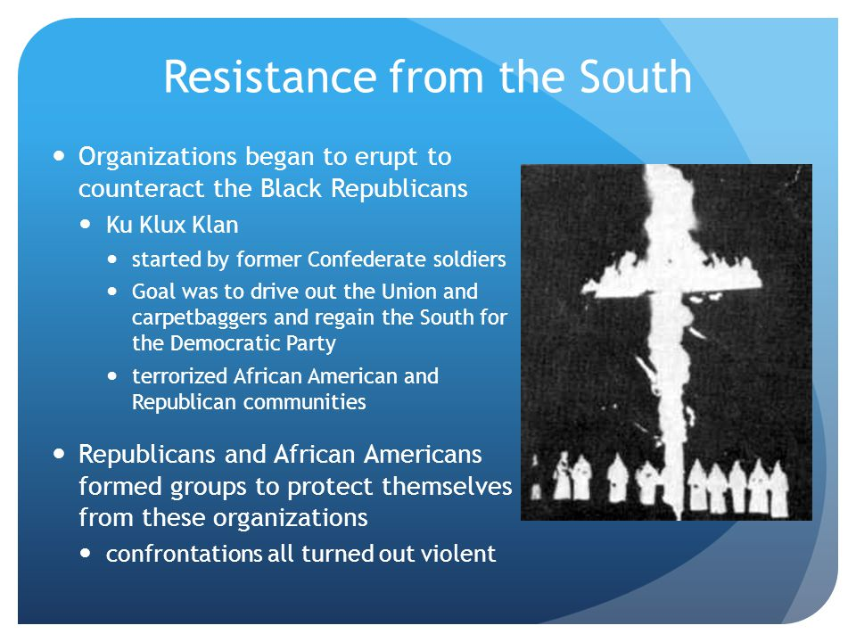 Resistance from the South
