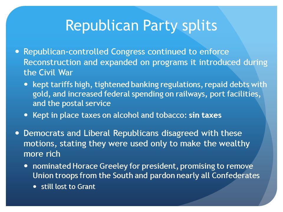 Republican Party splits
