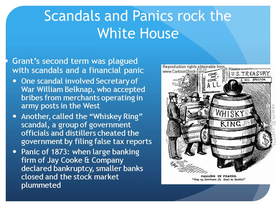 Scandals and Panics rock the White House