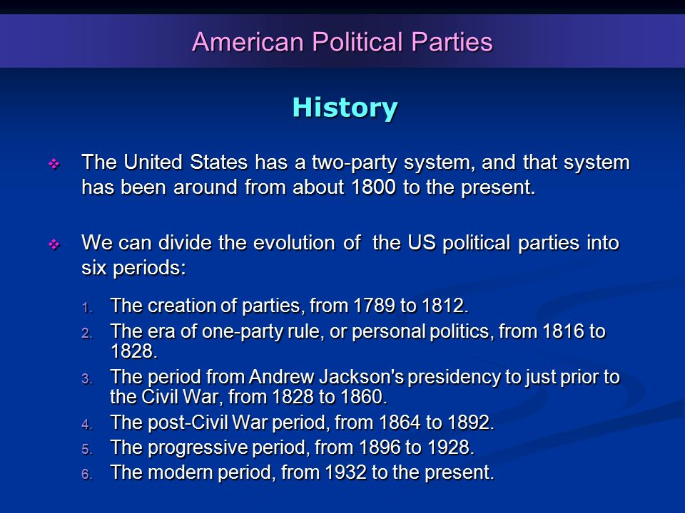 American Political Parties