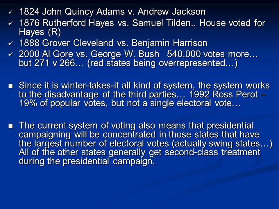 1824 John Quincy Adams v. Andrew Jackson