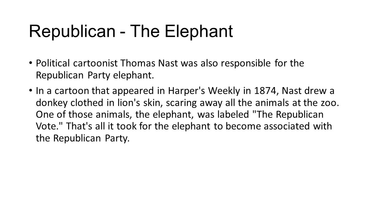 Republican - The Elephant