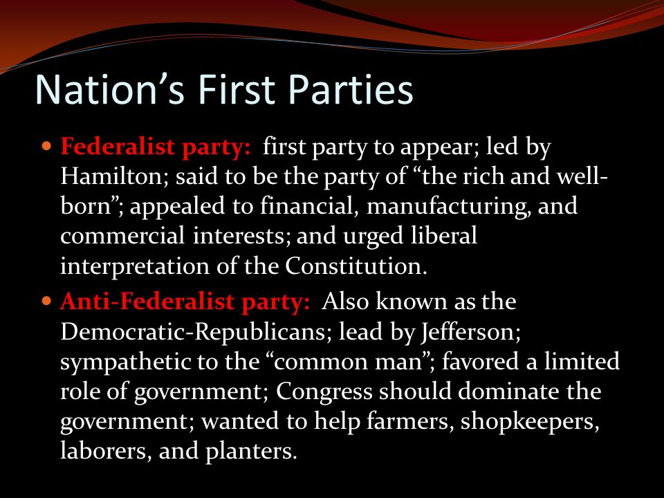 Nation's First Parties