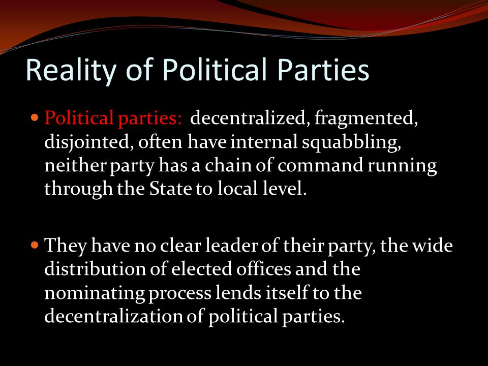 Reality of Political Parties