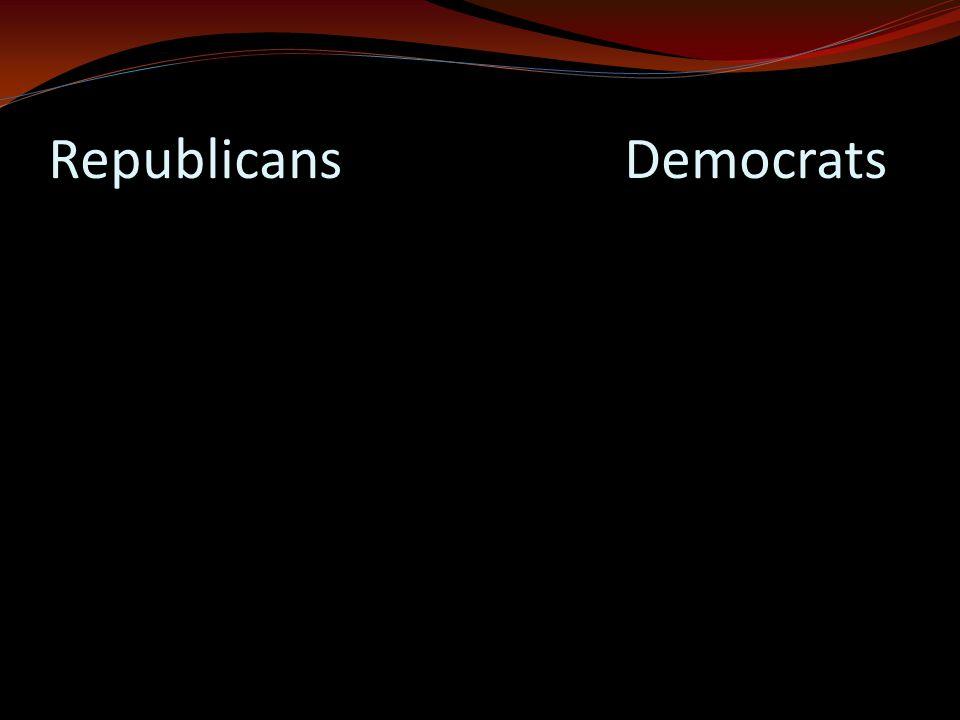 Republicans Democrats
