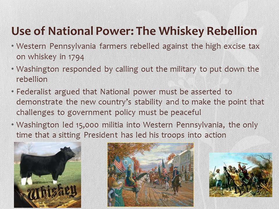 Use of National Power: The Whiskey Rebellion