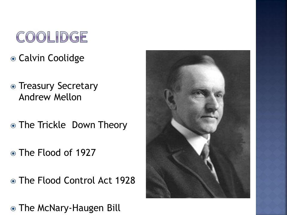 Coolidge Calvin Coolidge Treasury Secretary Andrew Mellon