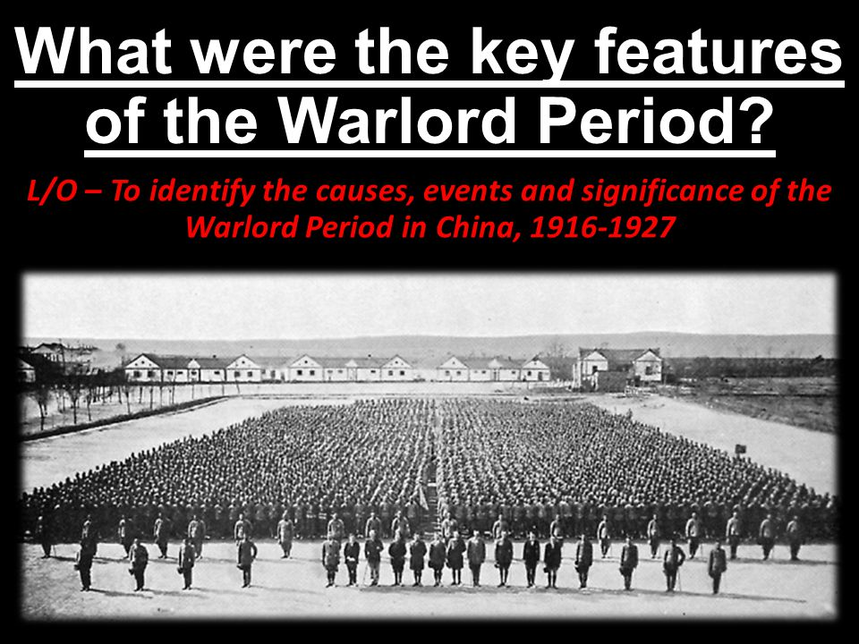 What were the key features of the Warlord Period