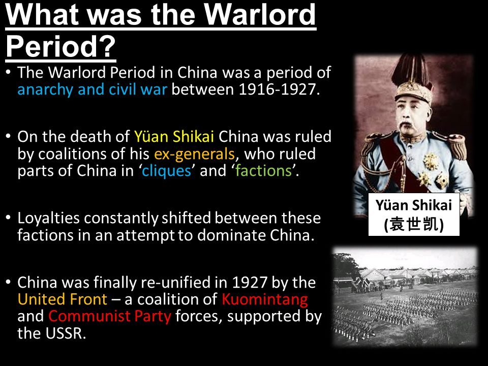 What was the Warlord Period