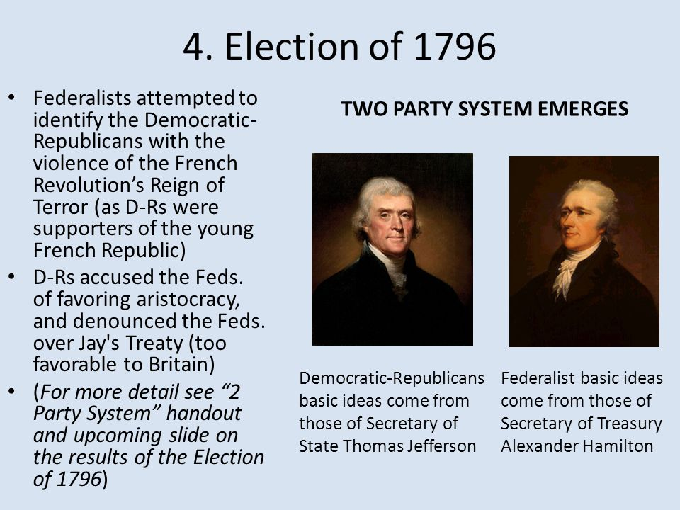 4. Election of 1796